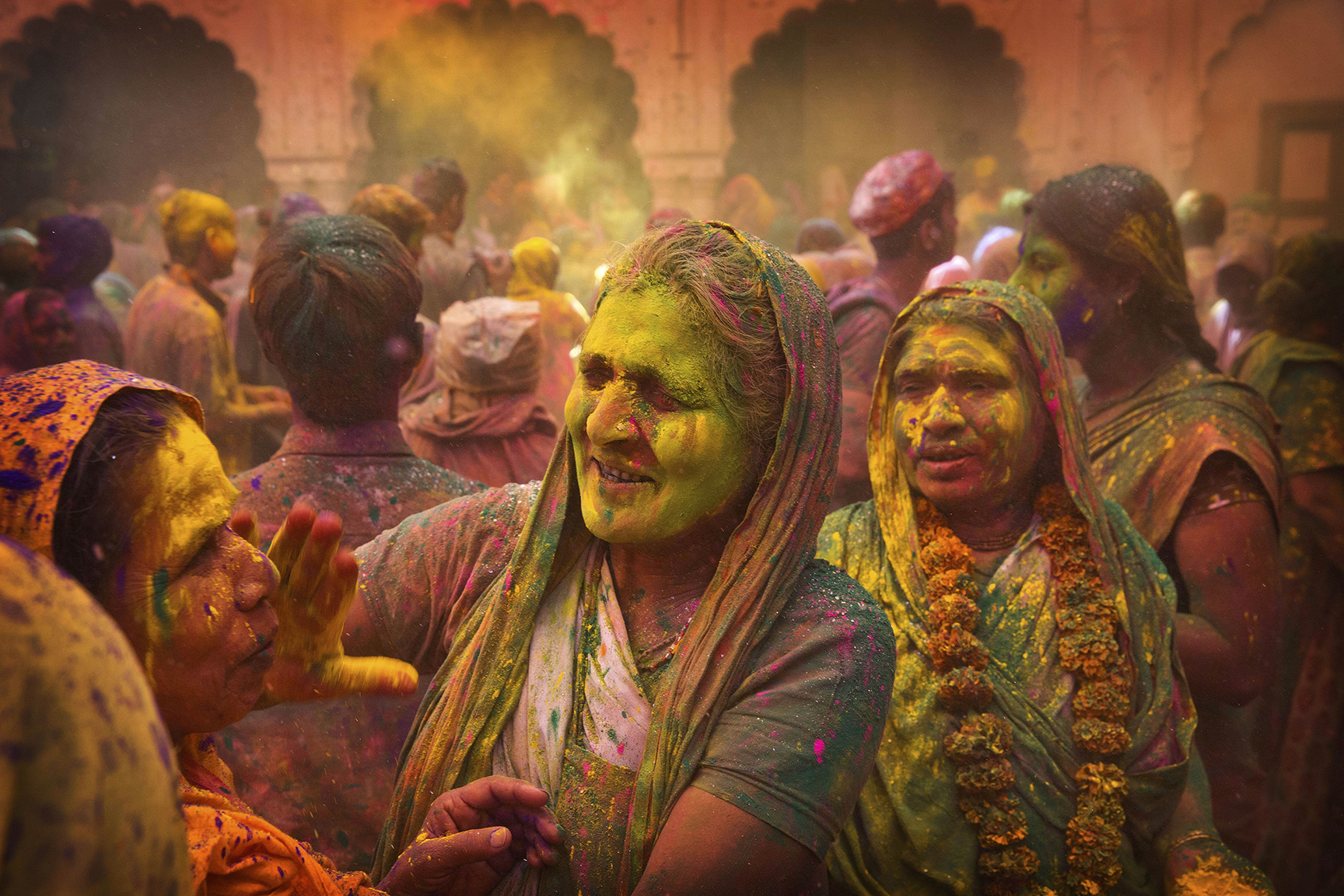 India Widows Holi