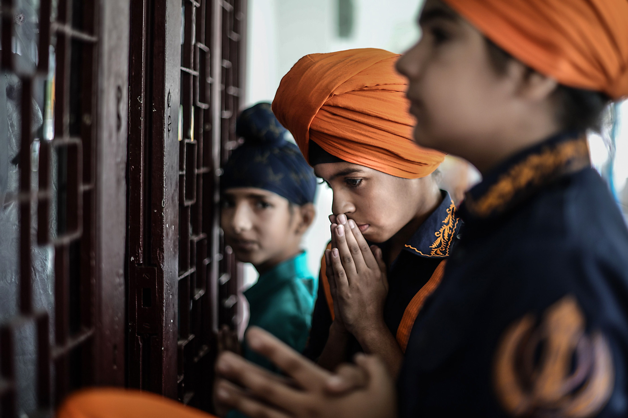 Ethnic Malaysian Sikhs perform prayers t...Ethnic Malaysian Sikhs perform prayers to celebrate the Vaisakhi Festival, or the Sikh New Year Festival, at Gurdwara Sahib temple in Kuala Lumpur on April 14, 2016.  The Vaisakhi Festival is the most important event in the Sikh calendar and celebrates the birth of Khalsa. / AFP PHOTO / MOHD RASFANMOHD RASFAN/AFP/Getty Images