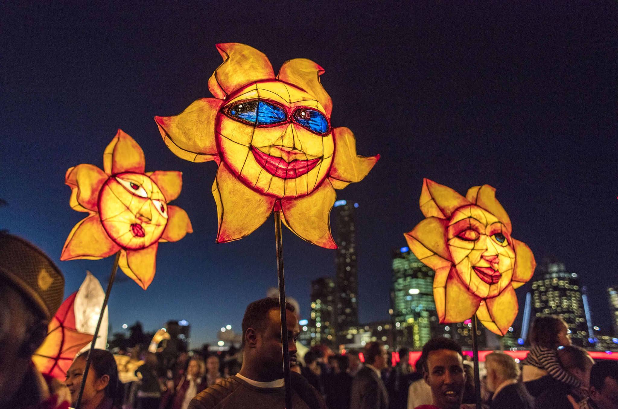 BRISBANE, AUSTRALIA - JUNE 10:  The Luminous Lantern Parade on June 10, 2016 in Brisbane, Australia. The annual parade is aimed at promoting multiculturalism and welcome new arrivals.  (Photo by Glenn Hunt/Getty Images)