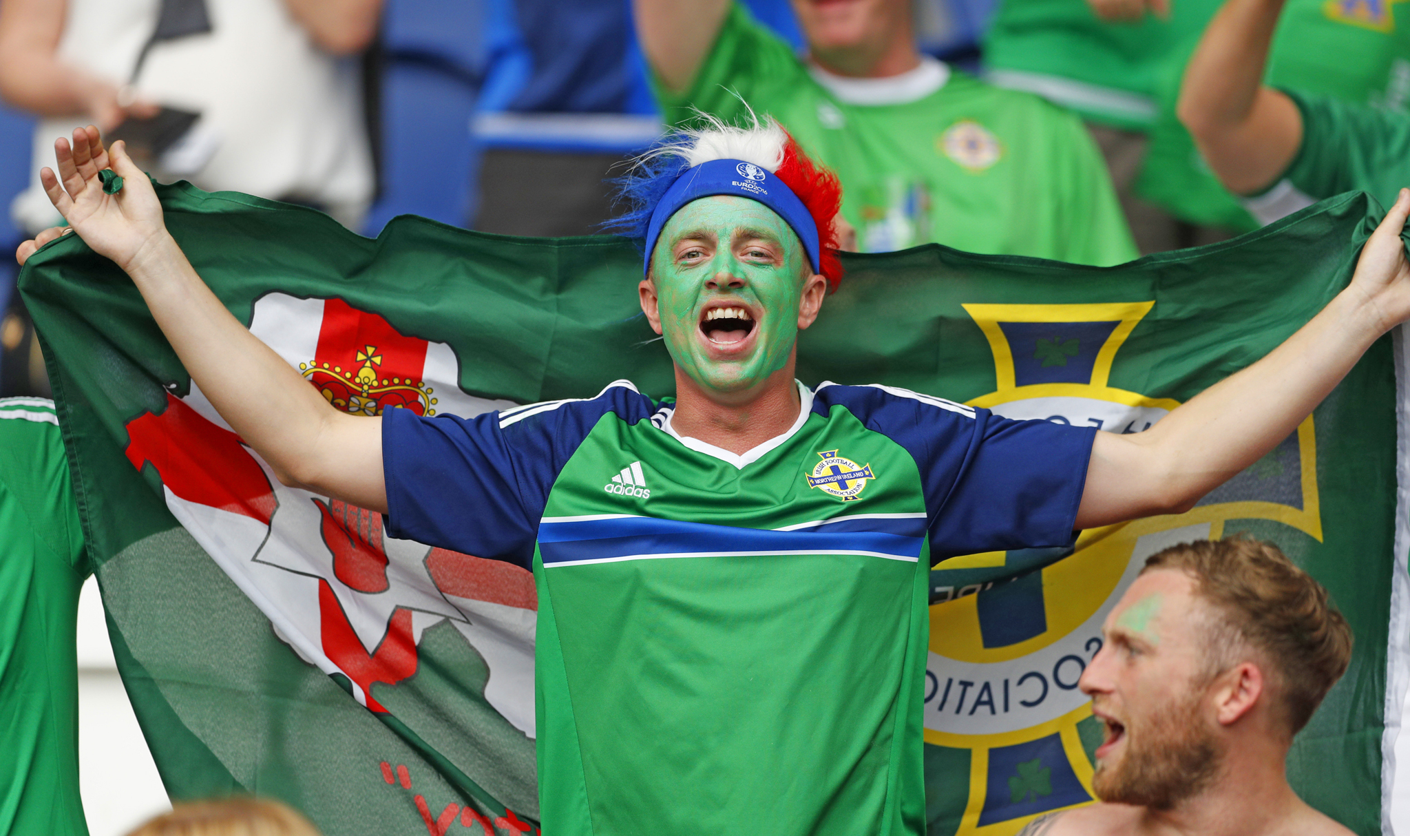 Football Soccer - Northern Ireland v Germany - EURO 2016 - Group C - Parc des Princes, Paris, France - 21/6/16 Northern Ireland fan before the match