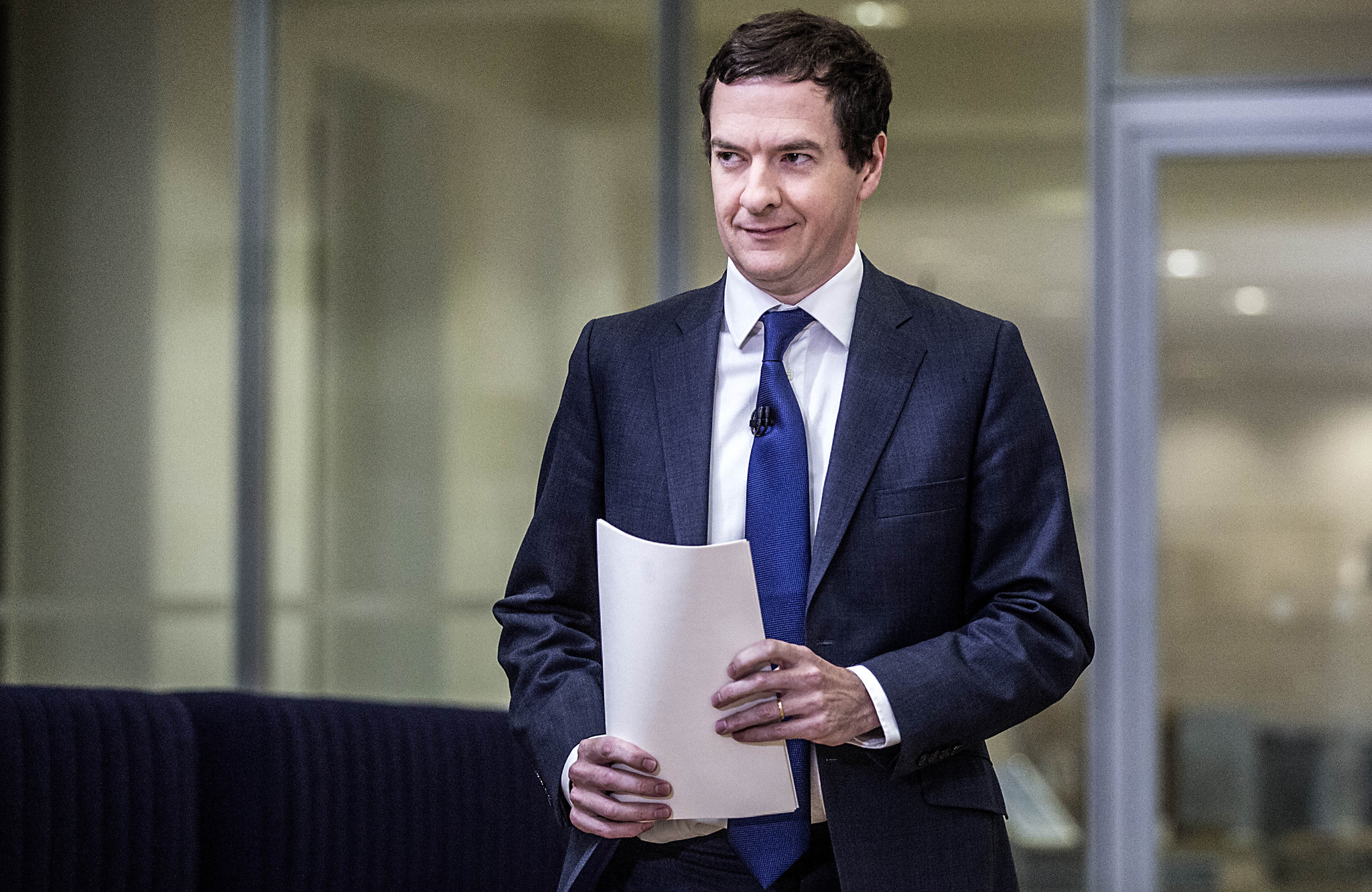 """LONDON, UNITED KINGDOM - JUNE 27: Chancellor George Osborne speaks at The Treasury, where he moved to try to calm market turmoil triggered by the pro-Brexit vote on June 27, 2016 in London, United Kingdom.  Mr Osborne spoke ahead of the start of financial trading and outlined how the Government will """"protect the national interest"""" after the UK voted to leave the EU. (Photo by Richard Pohle - WPA Pool/Gettty Images)"""