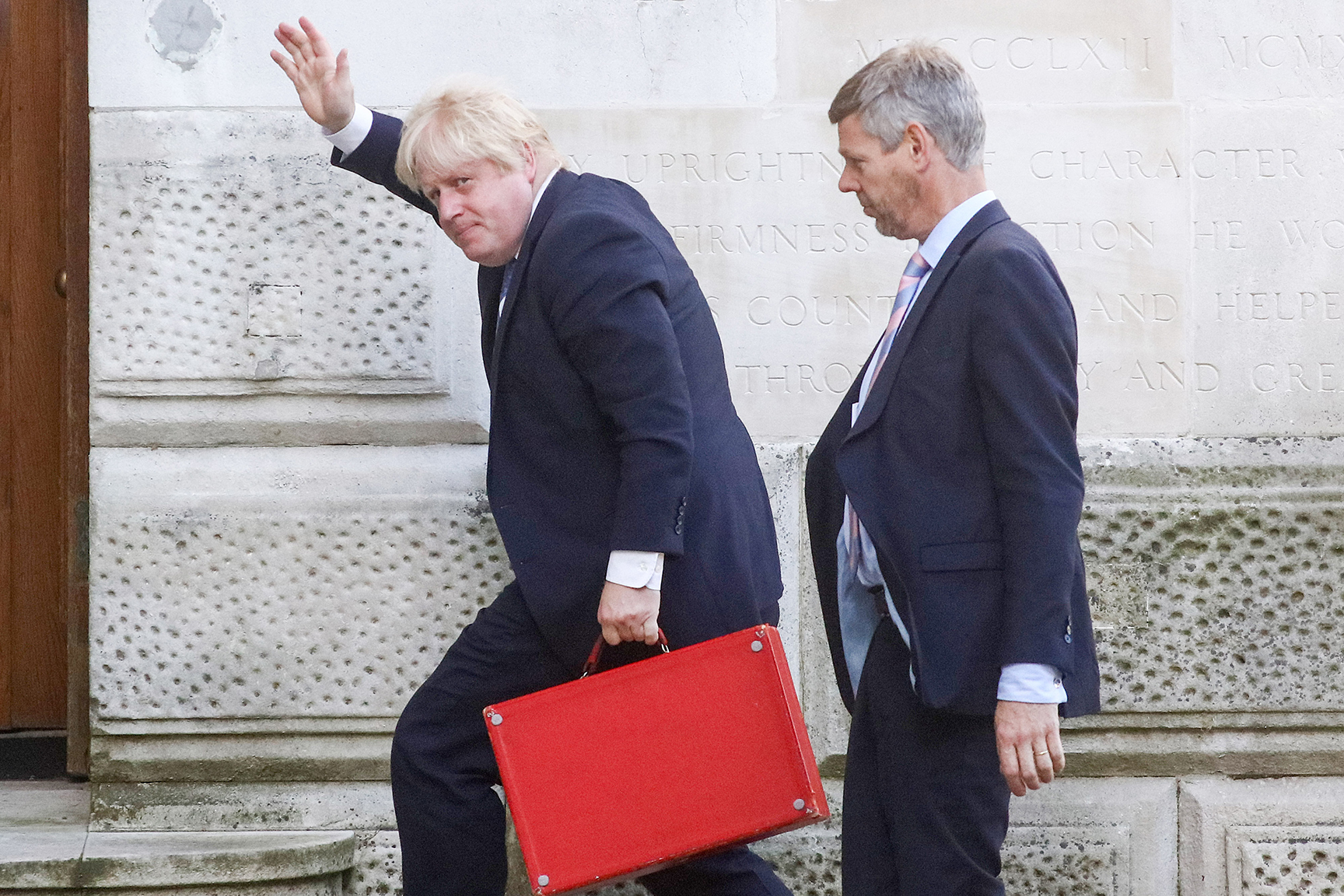 U.K. Foreign Secretary Boris Johnson Prepares To Meet European Union's Foreign Affairs Council