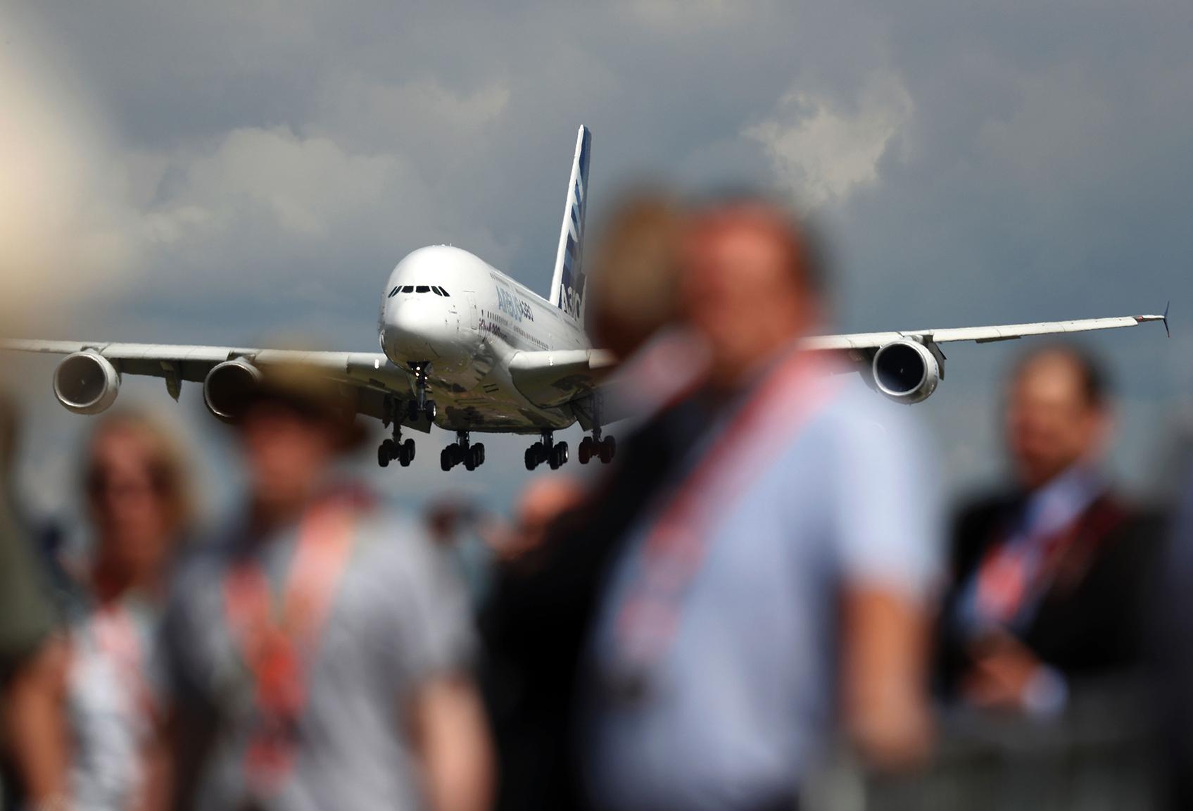 An Airbus A380 aircraft