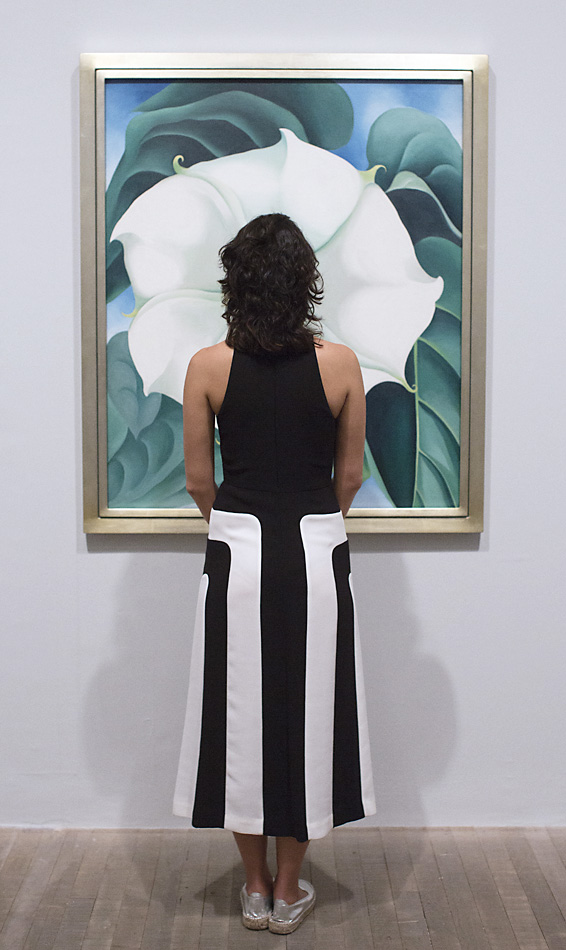 Journalists view work by American artist Georgia O'Keeffe at Tate Modern on July 4, 2016 in London, England. The exhibition, the first UK exhibition of O'Keefe's work for over twenty years, is at Tate Modern from July 6th until October 30th, 2016