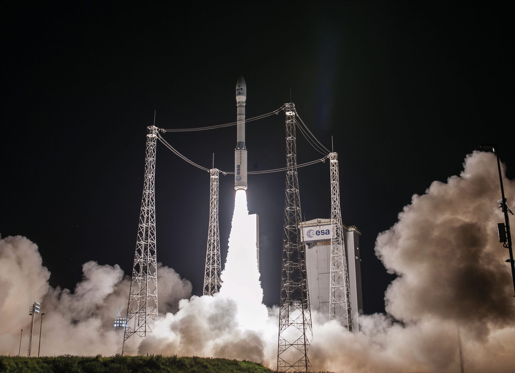 lift-off of Arianaspace's Vega rocket from Europe's Spaceport in Kourou, French Guiana