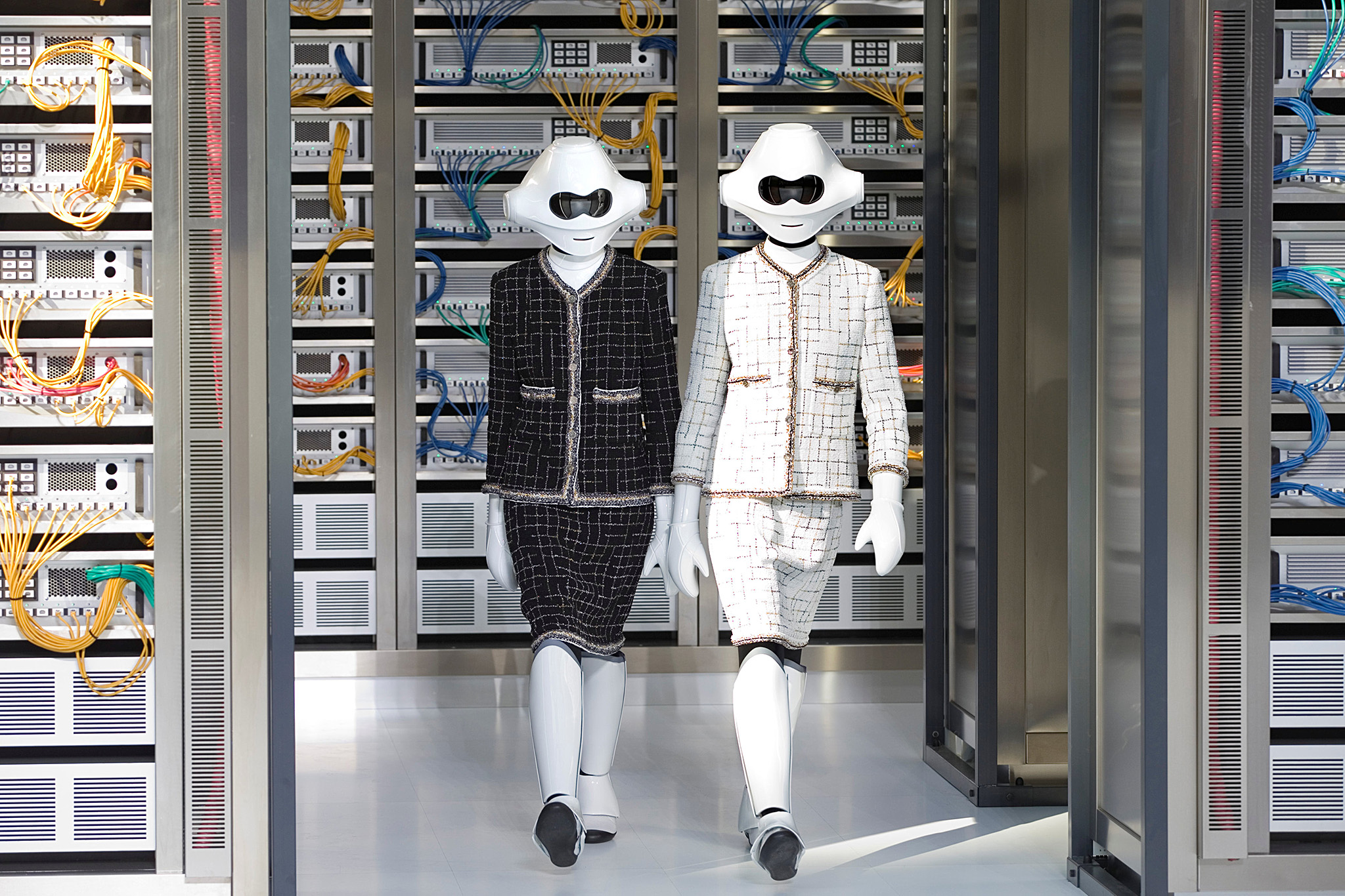 Models present creations by German designer Karl Lagerfeld as part of his Spring/Summer 2017 women's ready-to-wear collection for fashion house Chanel during Fashion Week in Paris