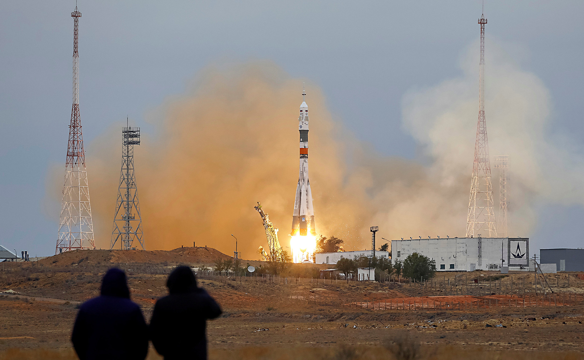 The Soyuz MS-02 spacecraft carrying the crew of Shane Kimbrough of the U.S., Sergey Ryzhikov and Andrey Borisenko of Russia blasts off to the International Space Station (ISS) from the launchpad at the Baikonur cosmodrome, Kazakhstan, October 19, 2016.  REUTERS/Shamil Zhumatov