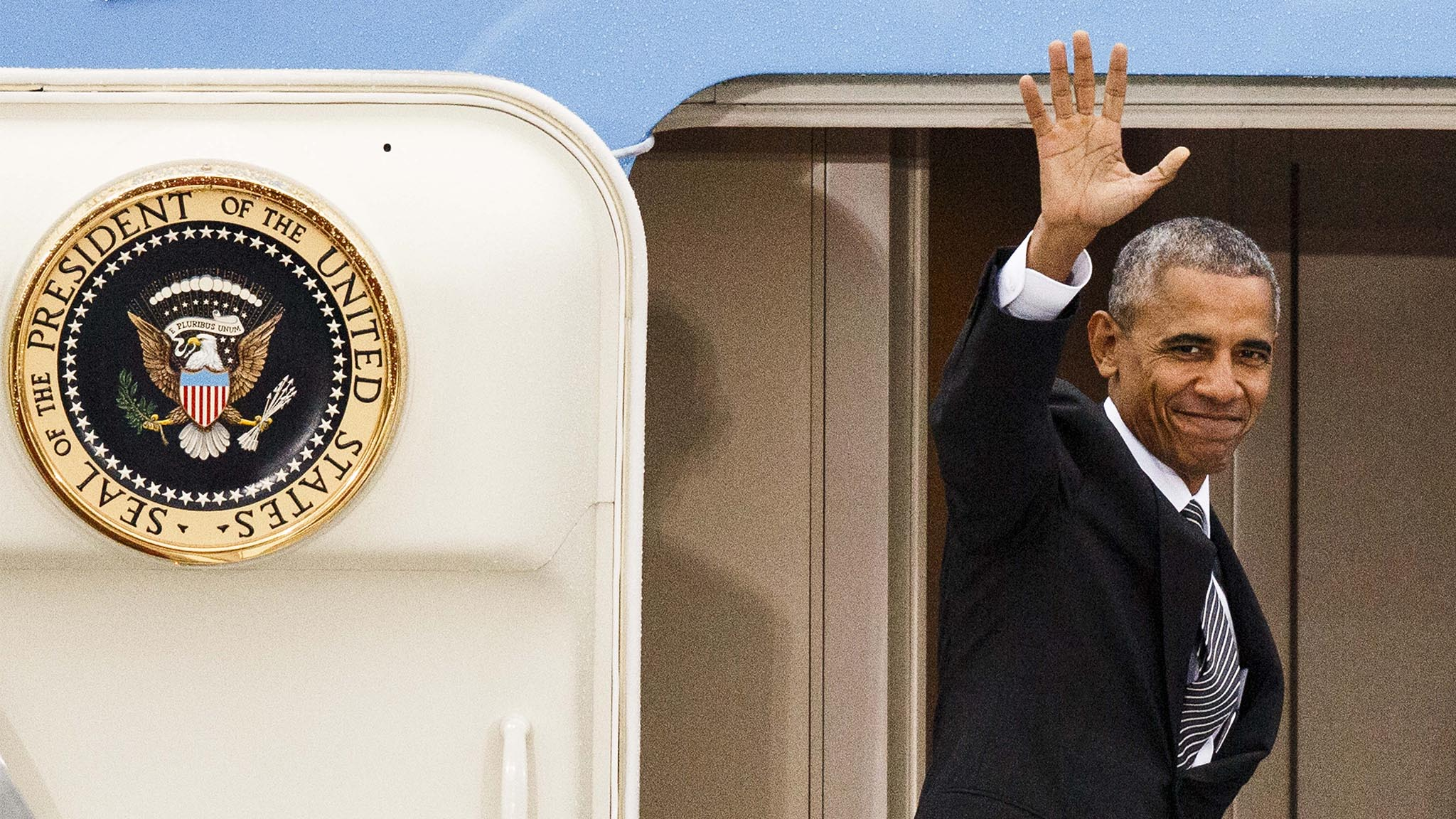President Obama Departs After Meeting European Leaders
