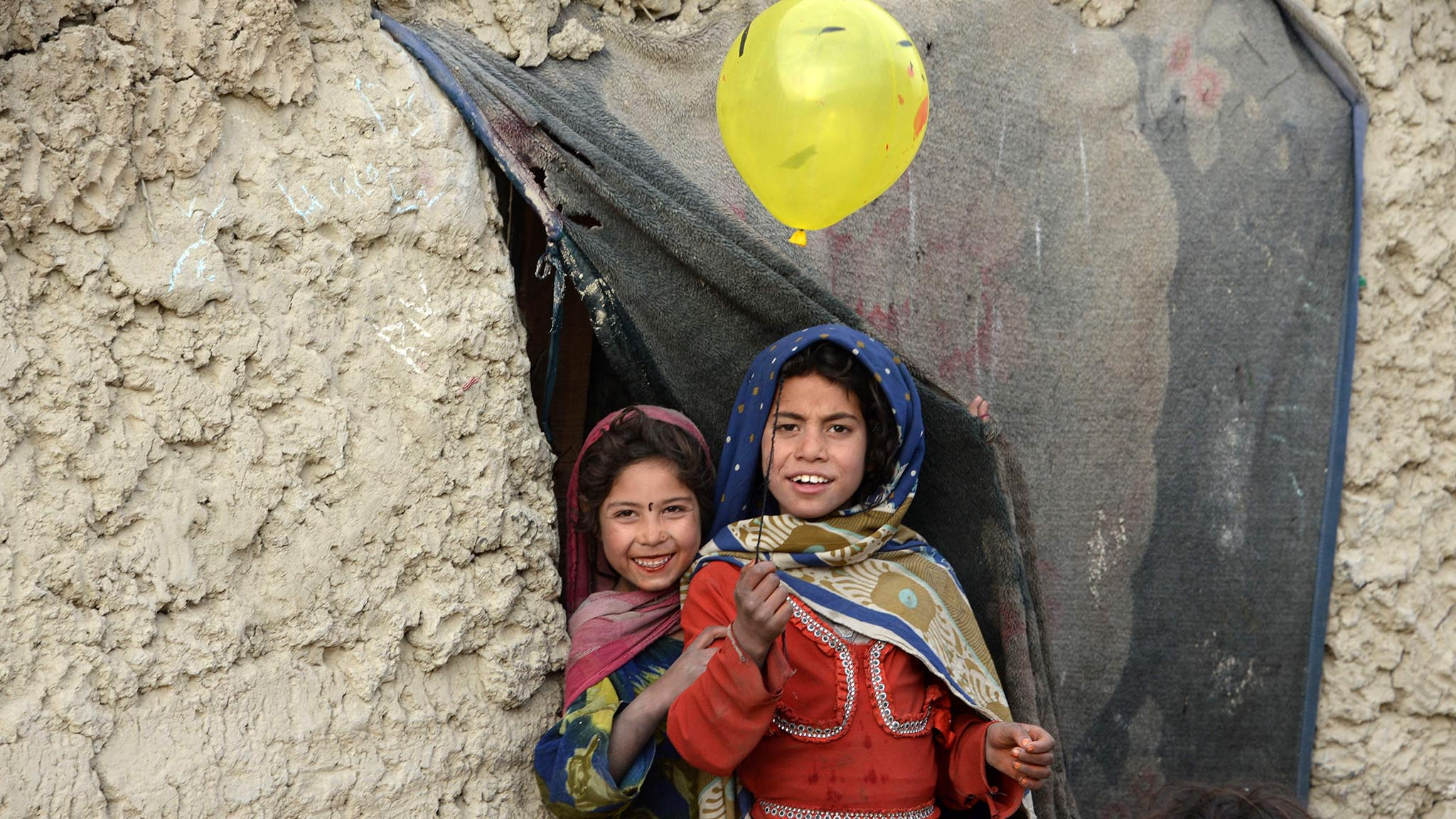 Internally displaced Afghan children