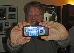 Robert Scoble with his Qik-enabled phone