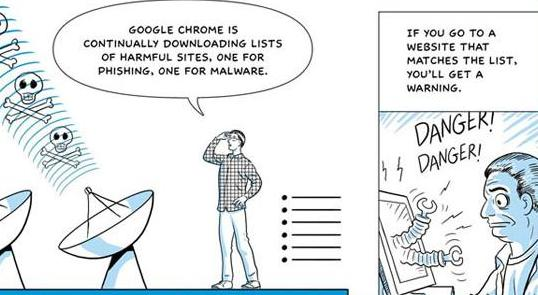 Google Chrome cartoon