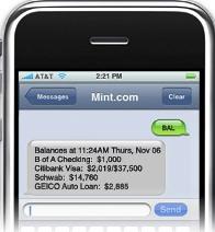 Mint.com balance service