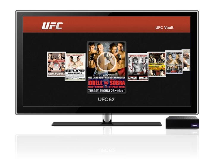 Roku added a mixed martial arts channel to its lineup on Monday