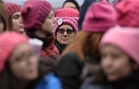 Not foreseen: Pink pussy hats in vogue at the post-inauguration protest in Washington