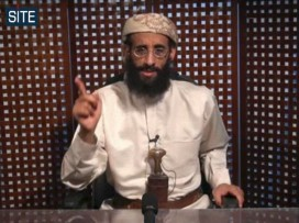Anwar al-Awlaki speaks in a video message posted in late 2010 (AP photo/SITE intelligence group)