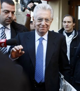 Mario Monti in Rome on Monday. Photo: Pier Paolo Cito/AP