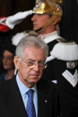 Mario Monti arrives to unveil his new government at the Quirinale Palace in Rome. Photo: Alberto Pizzoli/AFP/Getty Images