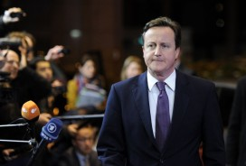 David Cameron arrives for the EU summit. Photo: Eric Feferberg/AFP