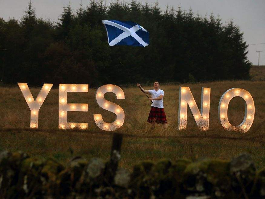 Scotland independence referendum results
