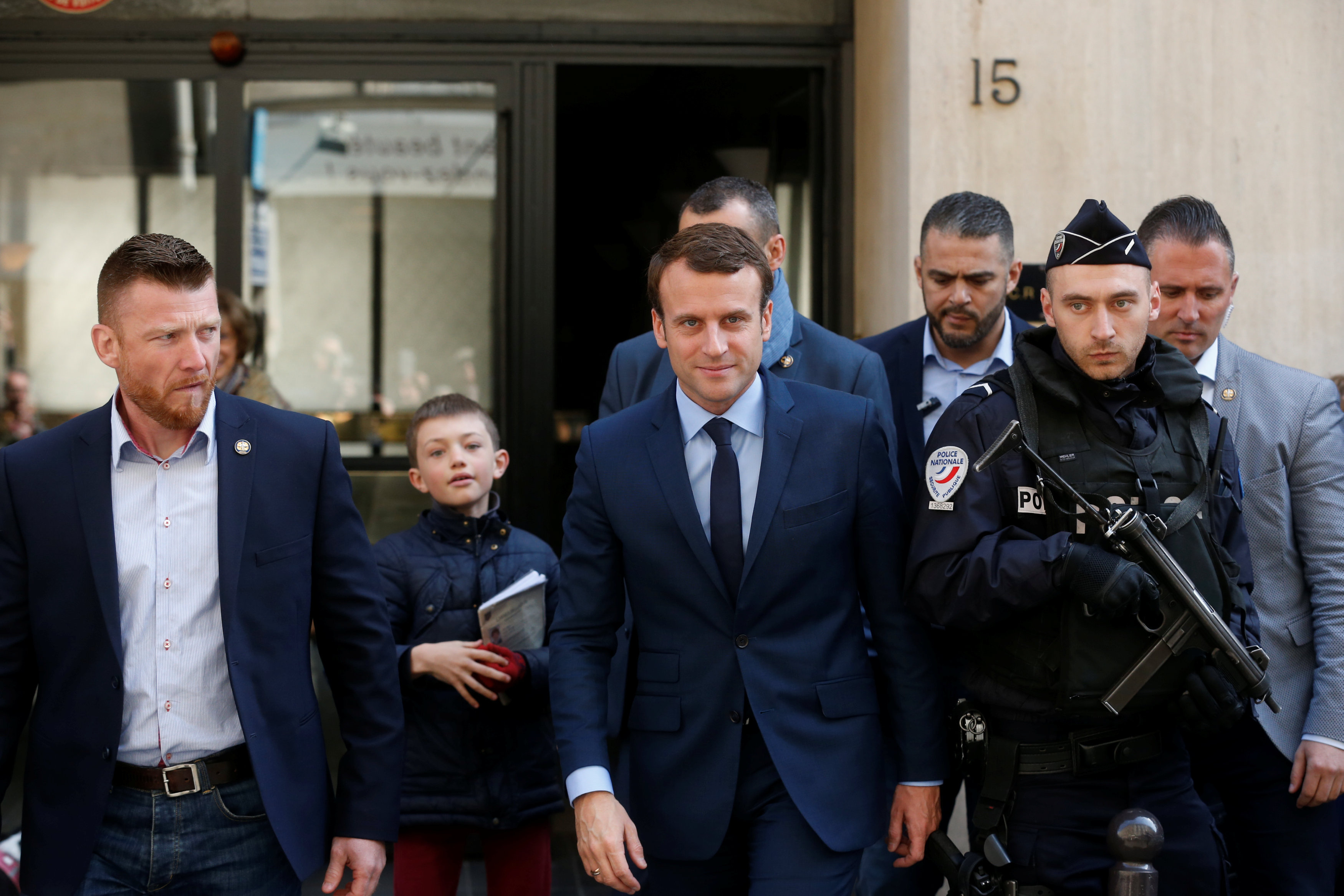 France elections 2017 live - Here S A Snap Of Macron Leaving His Home In Paris A Bit Earlier Surrounded By Security