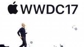 Tim Cook speaks during Apple's annual developer conference in San Jose