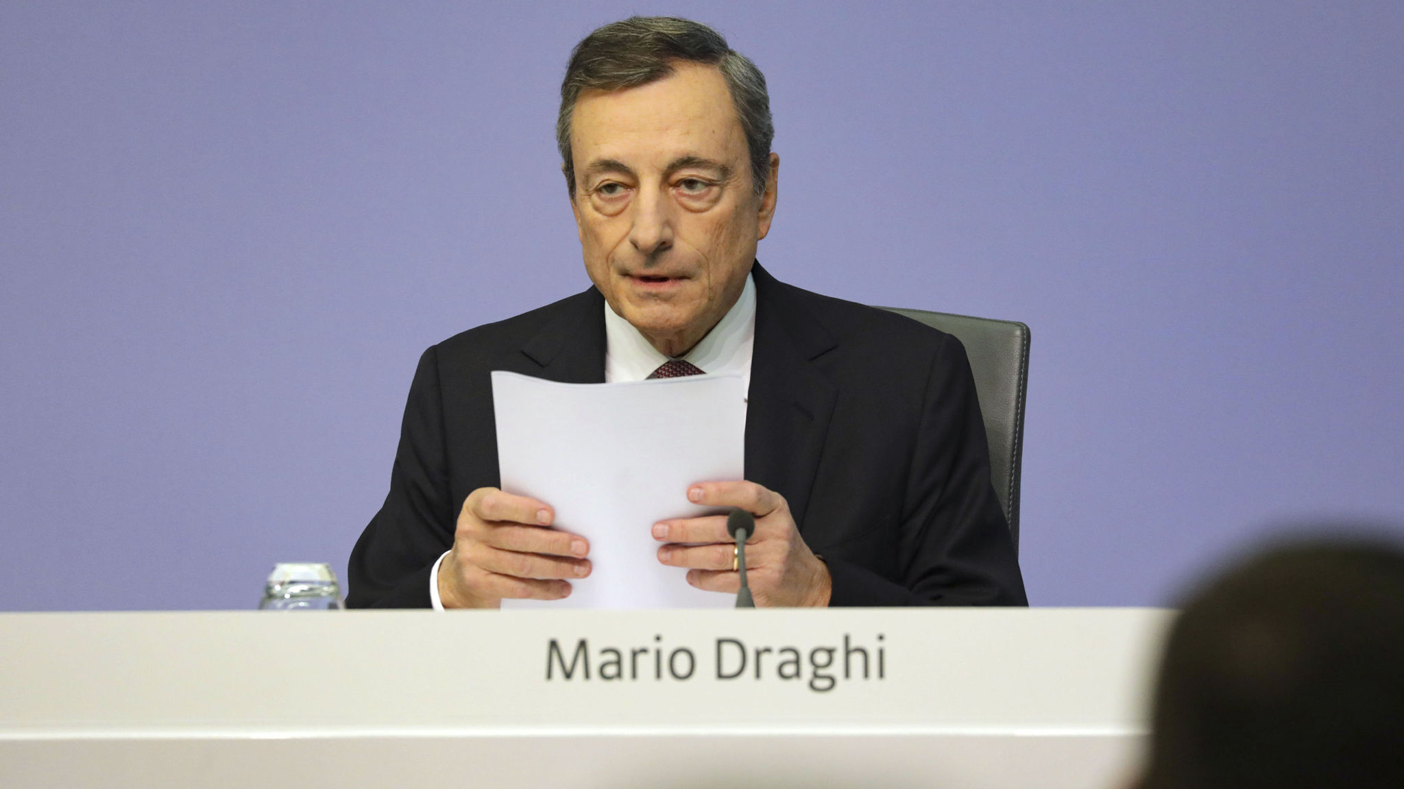 European Central Bank President Mario Draghi Announces Rates Decision