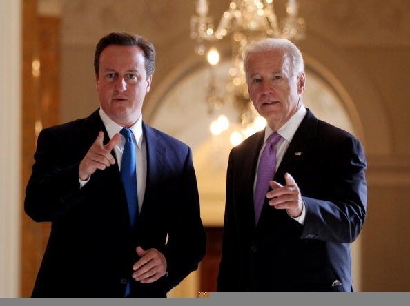 David Cameron with Vice President Joe Biden