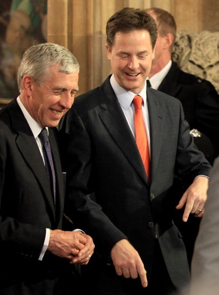 Nick Clegg and Jack Straw
