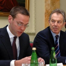 Tony Blair with James Murdoch