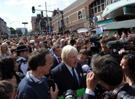 Boris Johnson in Clapham