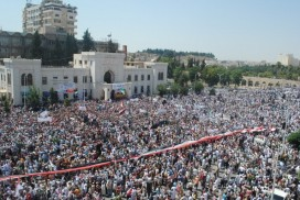 Syrians protest in Hama