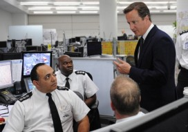 David Cameron meets police officers