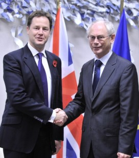 Nick Clegg with Herman Van Rompuy