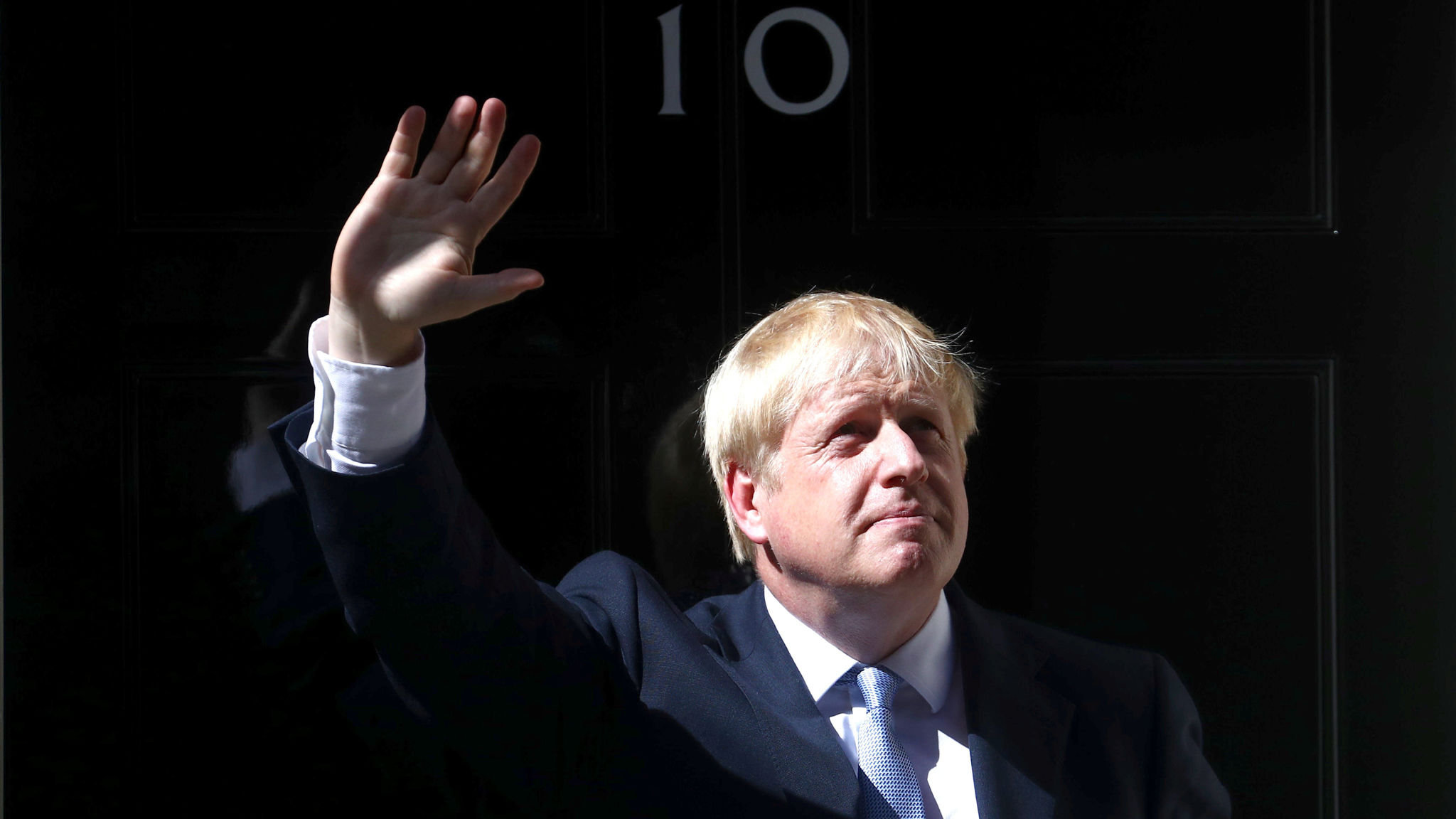Britain's new Prime Minister, Boris Johnson, enters Downing Street, in London